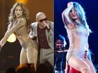 Roupa ousada de Jennifer Lopez é idêntica a figurino de Claudia Leitte