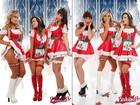 Márcia Spézia e mais coelhinhas da 'Playboy' posam em clima de natal