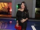 'Ele é um bebê muito baladeiro', diz Priscila Pires sobre o primeiro filho