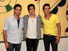 Luan Santana participa de entrevista coletiva de dupla sertaneja