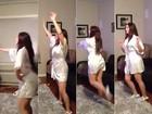 Nana Gouvêa dança Katy Perry de robe curtinho e posta vídeo no Twitter