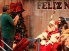 Jayme Monjardim e Tânia Mara levam filha para ver Papai Noel