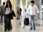 Cleo Pires e mais famosos circulam em aeroporto
