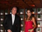 Roberto Justus e Ticiane Pinheiro levam Rafaella ao casamento do irmão