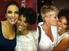 Sheron Menezzes posa com Xuxa e Ivete e diz que foi presente aniversrio