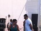 Xanddy dança com Scheila Carvalho durante gravação de programa