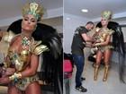 Musas gravam vinheta de carnaval no Rio