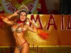 Tânia Oliveira, a nova madrinha de bateria da Tom Maior