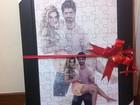 Ex-BBB Adriana ganha quadro romântico de Rodrigão