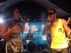 Mamãe trabalhadeira! Perlla canta em show do 'Fantasmão' em Salvador
