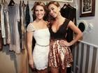 Giovanna Ewbank e Sabrina Sato vão à festa de estilista