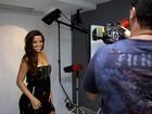 Renata Santos fotografa para campanha de cosméticos
