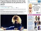 Beyoncé grava especial de TV descalça