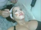 Ex-BBB Priscila faz limpeza de pele e mostra foto do tratamento no Twitter