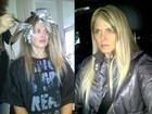 Susana Werner clareia o cabelo para e posta foto do 'antes e depois'