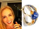 Jornal: Angélica ganha anel valioso de safira e diamantes de Huck