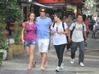 Juntos, Rômulo Arantes Neto e Maria Pinna circulam pelo Rio