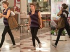 Grazi Massafera exibe barriguinha de gravidez em shopping do Rio