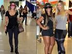Popozudas no aeroporto: Dani Bolina e Valesca pegam avião