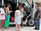 Sheron Menezzes vai à praia no Rio