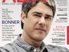 'A idade é uma merda', diz William Bonner a revista sobre os fios brancos