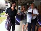 Susana Vieira e Sandro Pedroso pegam na Globo seu kit de Natal