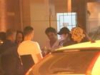 Danielle Winits e Marcos Pasquim jantam juntos no Rio