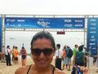 Ex-BBB Natália Castro participa de maratona aquática no Rio