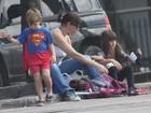 Maria Paula se diverte com os filhos em domingo de sol no Rio