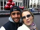 Luana Piovani curte Nova York com o marido Pedro Scooby