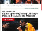 Snoop Dogg fuma em show e divide cigarro com público