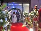 Felipe Dylon e Aparecida Petrowky se casam no Rio