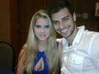 Bárbara Evans posta foto com novo namorado no Twitter: 'Eu e meu amor'