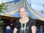 Angélica leva o filho Benício para ver Cirque du Soleil