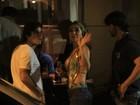 Depois de ensaio na Vila Isabel, Sabrina Sato janta com o namorado