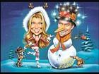 Em cartão de Natal, Fergie e o marido viram Mamãe Noel e Boneco de Neve