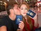 Marina Ruy Barbosa viaja com Klebber Toledo para os Estados Unidos