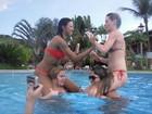 Ariadna, Diana, Paulinha e Natália relembram o 'BBB' em dia de piscina