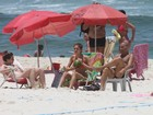 Sophie Charlotte, Monique Alfradique e Eri Johnson vão a praia