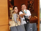 David Brazil e Mulher Melão fazem a alegria dos lojistas em shopping