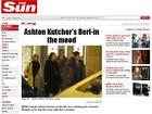 Jornal mostra Ashton Kutcher acompanhado de três mulheres