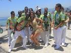 Dani Sperle leva escola para ensaiar na orla do Rio