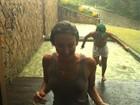 Depois de chuva, Claudia Leitte posta foto toda molhada no Twitter