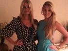 Bárbara Evans posta foto da noite de Natal com a mãe