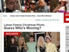Sem o pai, Lindsay Lohan posa ao lado da família na noite de Natal