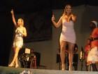 De vestido supercurto, Fani curte fim de ano em ilha 'afrodisíaca'
