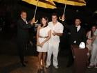 Famosos  celebram o réveillon na casa do Luciano Huck e Angélica