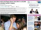 William e Kate passam Ano Novo dançando com a família Middleton