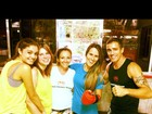 Sophie Charlotte, Carolinie e Fernanda Pontes treinam luta juntas