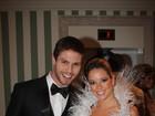 Ex-BBB Fernanda já desfilou de noiva em evento com Jonas, do BBB12